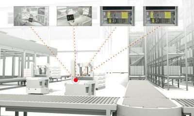 Real-time exchange of high volume process and safety data between multiple PLC controllers