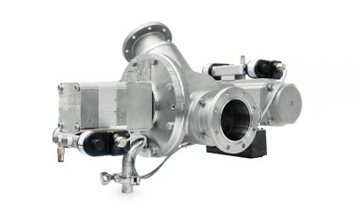 Coperion's optimized stainless steel WYK diverter valve for CIP applications is a match for even the most stringent hygiene and purity demands.