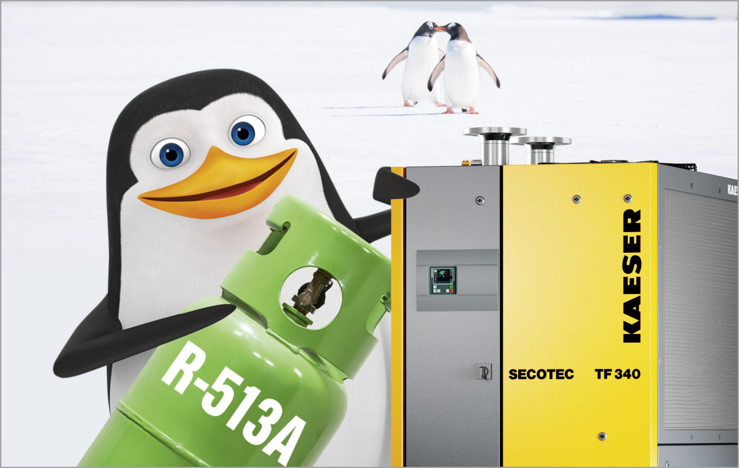 R-513A refrigerant offers the most future-proof operating solution for refrigeration dryers. (Picture: Kaeser)