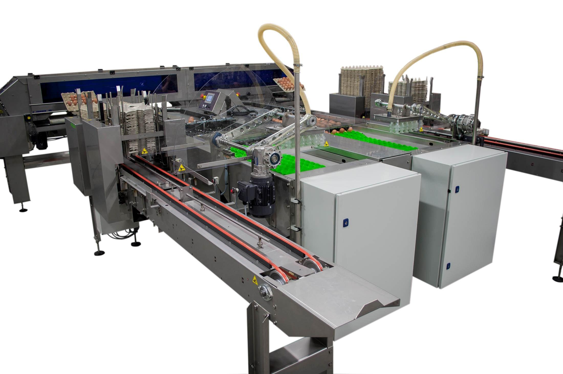 DAMTECH's E-Grader 40 egg weighing, sorting and packaging system. Picture: Variohm