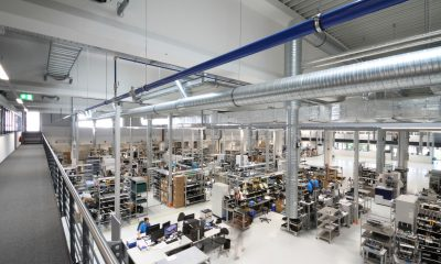The 4,800-square-meter expansion offers additional production, office and meeting room space. Picture: Endress+Hauser