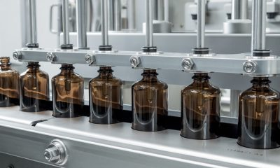 The Groninger Business Line FlexCare 100 for processing Consumer Healthcare bottles.