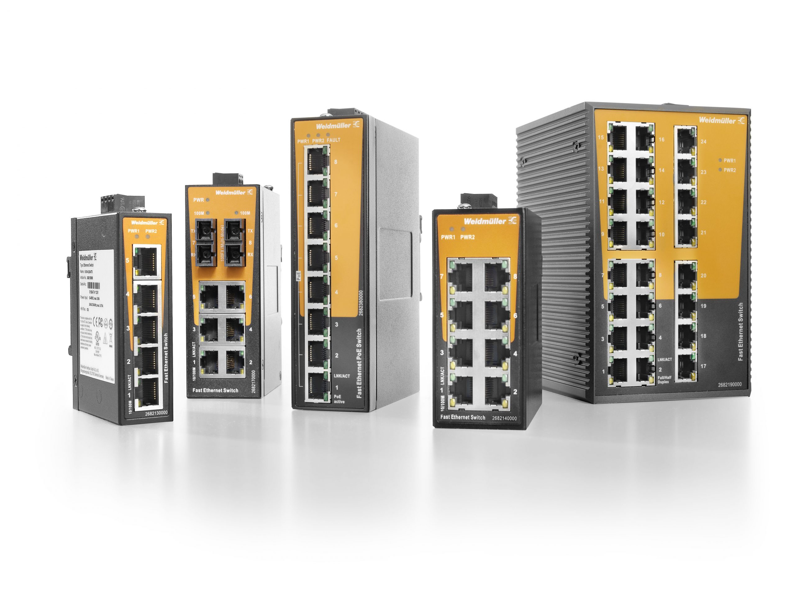 The new Ethernet switches from Weidmüller have been specifically developed for small industrial networks – for the secure and reliable communication between Ethernet-based machines and systems as well as allowing for the connection of Ethernet devices to a higher-level network. (Picture: Weidmüller)