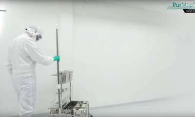 How cleanroom ceiling cleaning becomes ergonomic Hydroflex