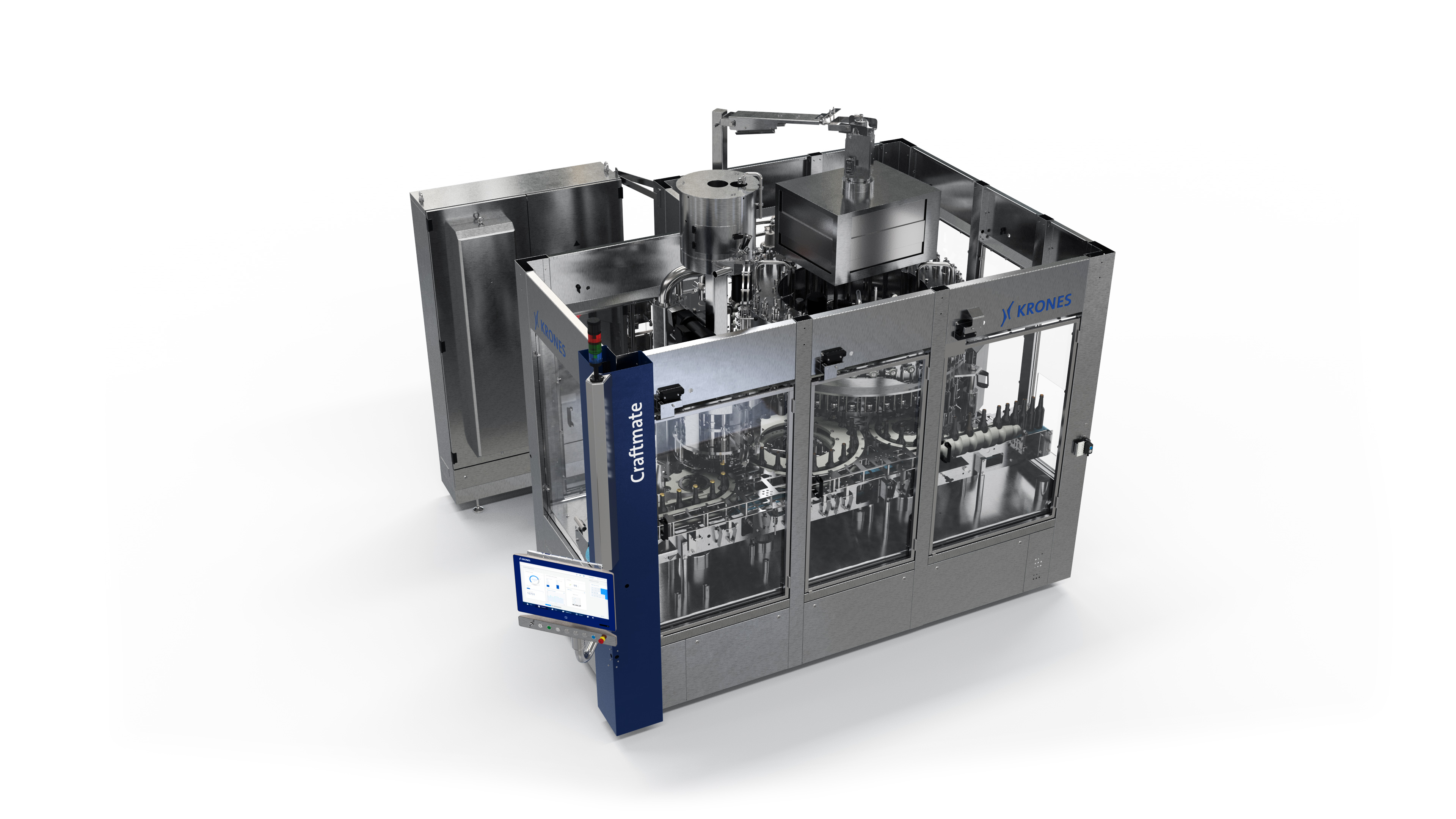 The new Craftmate G can handle up to 24,000 glass bottles per hour. (Picture: Krones)