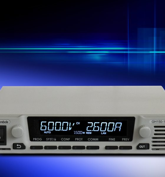 Power Supply Product 1U half-rack programmable DC power supplies deliver 1,500W