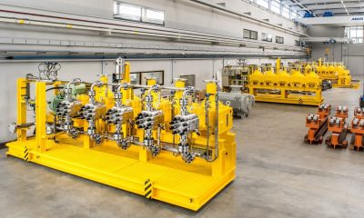 The process diaphragm pumps will inject mono ethylene glycol (MEG) into the pumping process, preventing the build-up of methane hydrates at critical process points and effectively countering bore hole icing. Picture: Lewa
