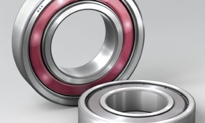 Molded-Oil bearings in the stainless steel version feature grease that is firmly embedded in the carrier medium to prevent it being washed away by steam or liquids. Picture: NSK
