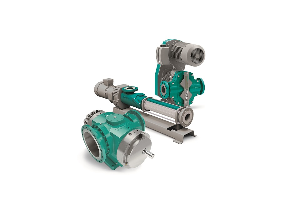 The Netzsch product group of the positive displacement pumps: Nemo progressing cavity, Tornado rotary lobe and the Notos multi screw pump.
