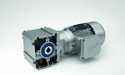 With the new SK 02040.1 the Nord Drivesystems range now includes a high performance, light and versatile helical worm gear unit for a large number of applications.