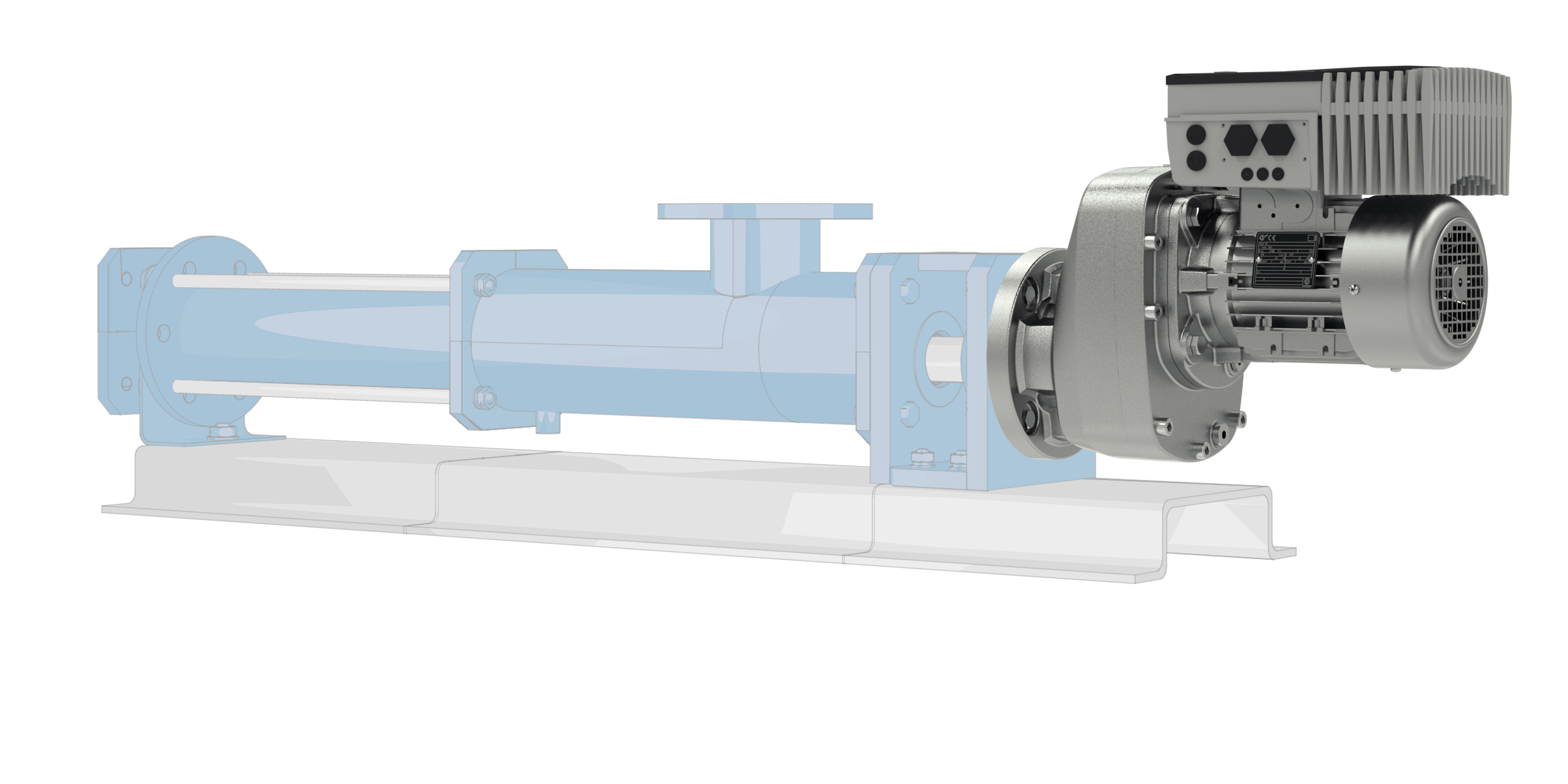 Drive solutions with reinforced bearings for agitators and pumps