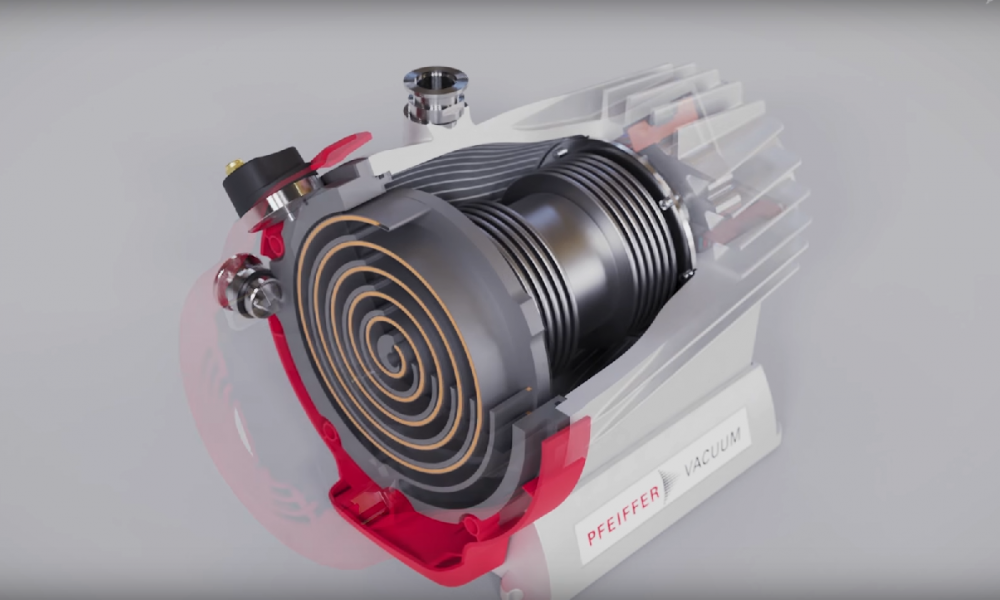 HiScroll ® the oil-free vacuum pumps by Pfeiffer Vacuum | 3D