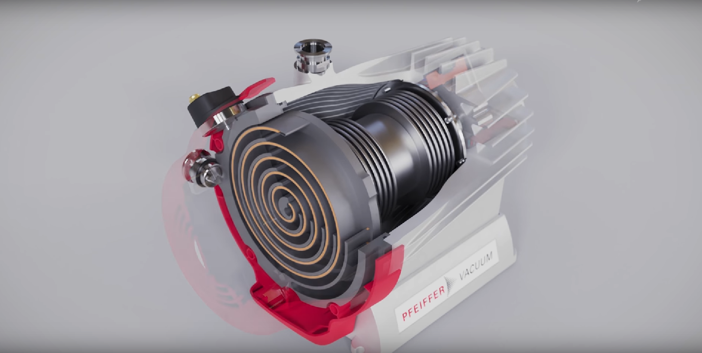 HiScroll ® the oil-free vacuum pumps by Pfeiffer Vacuum   3D
