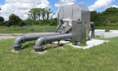 The INVENT iFILT-diamond filter at a municipal wastewater treatment plant.