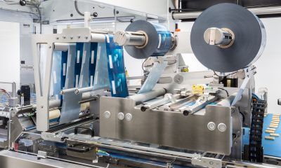 To meet the stringent hygiene requirements in the food industry, the Flowmodul flow-wrapping component is easily accessible for cleaning and servicing. Picture: Gerhard Schubert GmbH Verpackungsmaschinen