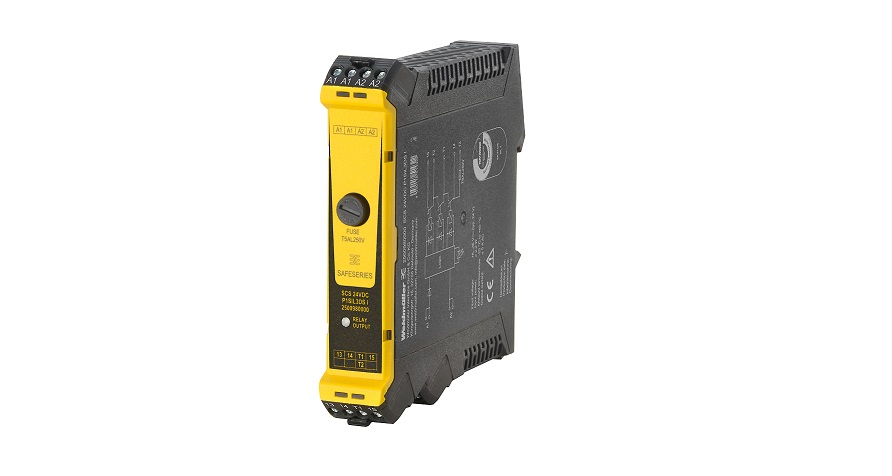 This safety relay is tailored for use with Emerson DeltaV DCS systems. Weidmüller