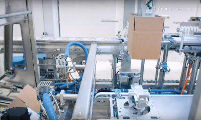 Schubert lightline Cartonpacker: The smart case packer for erecting, filling and closing cartons