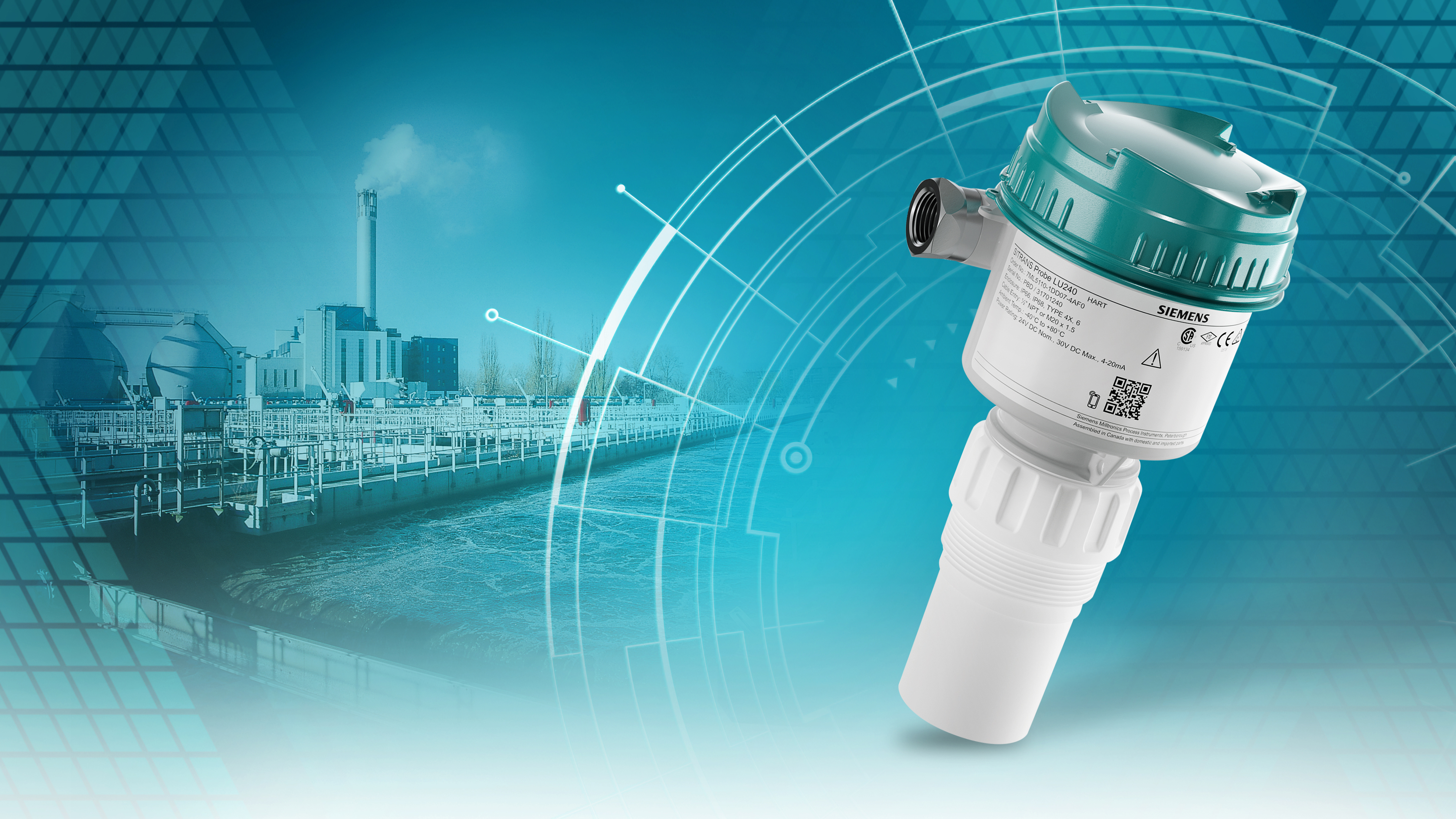 Siemens presents Sitrans Probe LU240, its newest ultrasonic level measurement Hart transmitter, a hardworking and rugged device that provides reliable level, volume, and flow measurements.