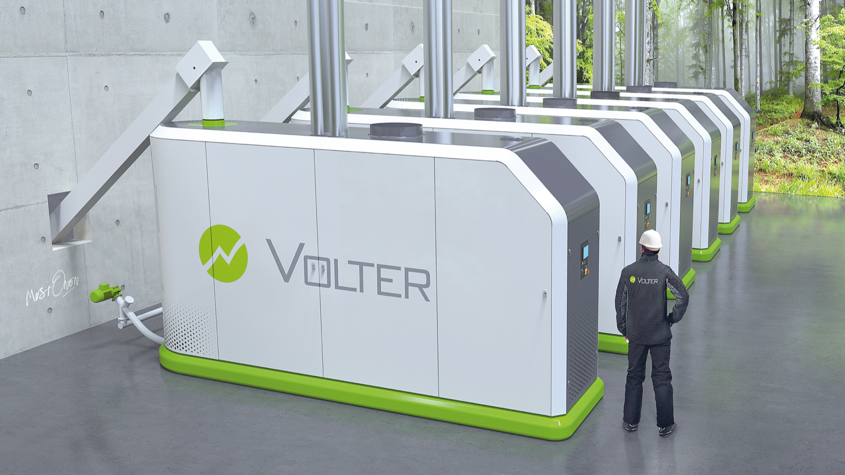 own energy from wood with Volter 40 CH