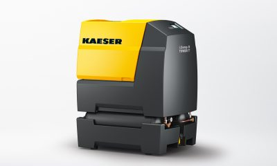The stationary 'Tower' version of the durable, variable speed and powerful i.Comp workshop compressor provides a dependable supply of quality compressed air for workshop business environments. Picture: Kaeser Kompressoren