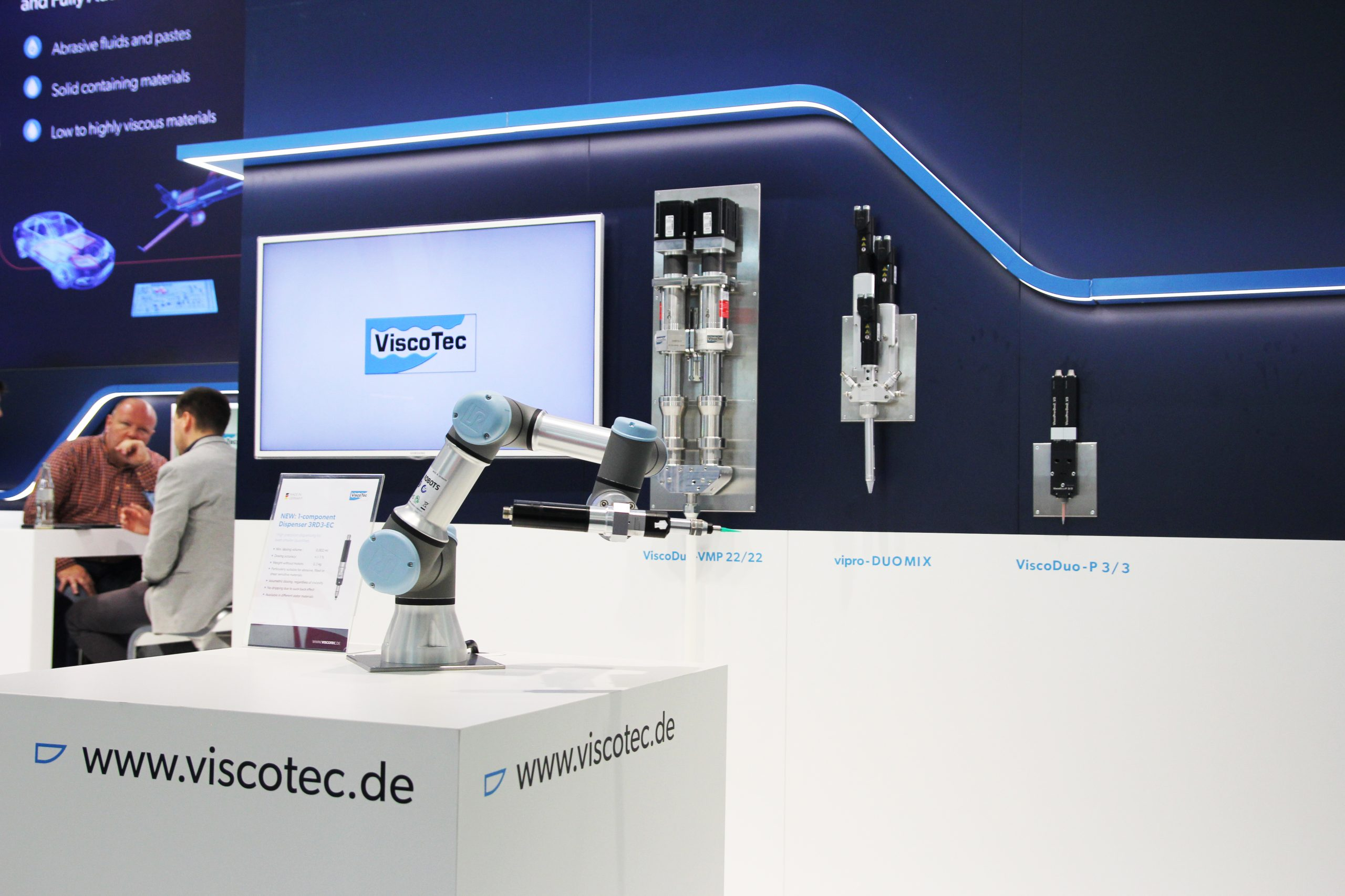 The new Viscotec products at the productronica 2020 in Munich. (Picture: Viscotec)
