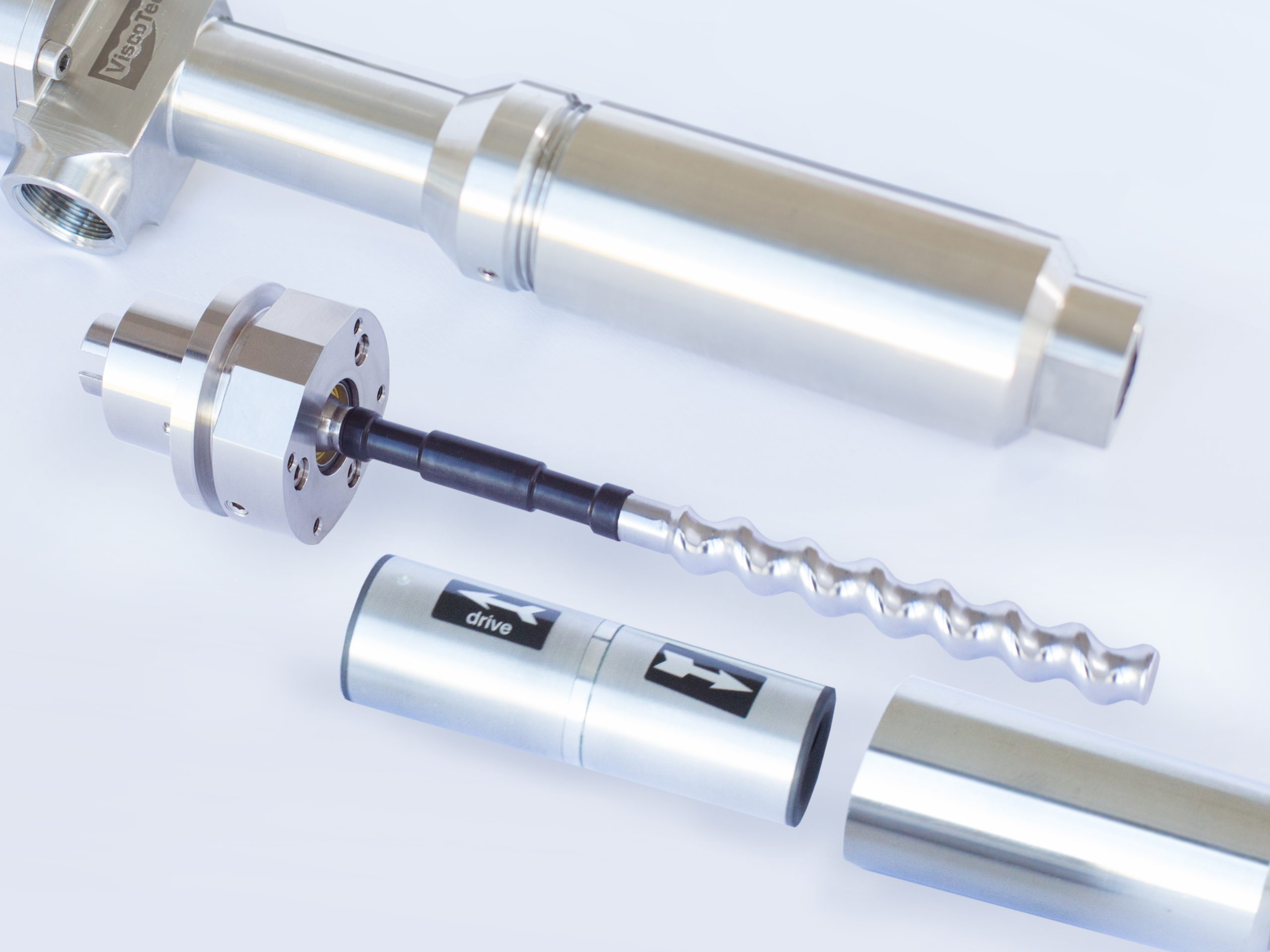 For comparison a hard chrome plated stainless steel rotor of the series RD dispenser from Viscotec. (Picture: Viscotec)